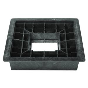 Trageplatte System Berliner Kappe® groß - Installation unter Standard-Straßenkappe, zum Ableiten der beim Stellen einer Armatur auftretenden Gegenmomente bis 2.500 Nm